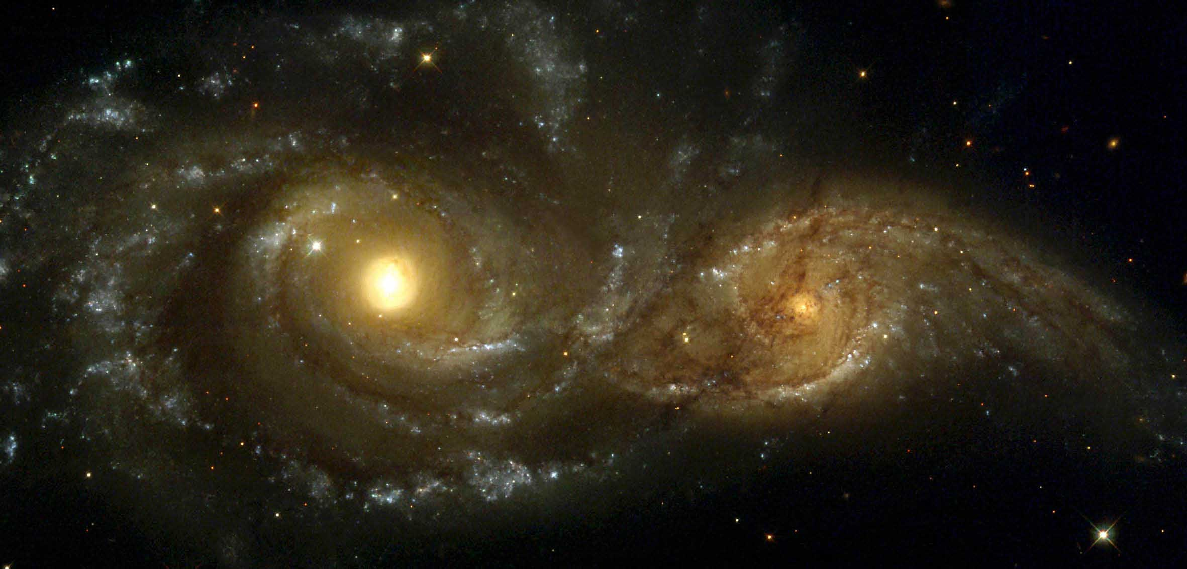 Courtship Dance of The Spiral Galaxy.